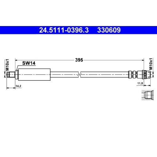 Bremsschlauch ATE 24.5111-0396.3 RENAULT