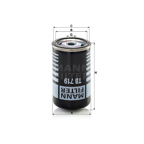 Air Dryer Cartridge, compressed-air system MANN-FILTER TB 719 MERCEDES-BENZ