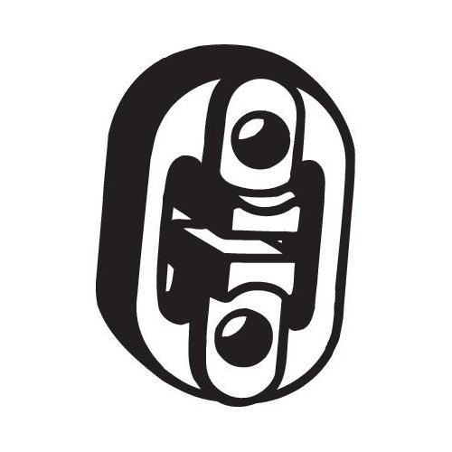 Gummistreifen, Abgasanlage BOSAL 255-132 AUDI NISSAN SEAT SKODA VW