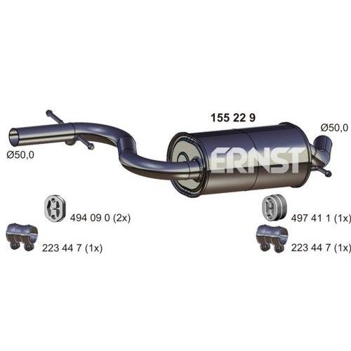 Middle Silencer ERNST 155229 VAG