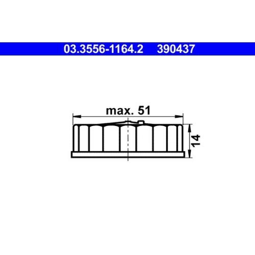 Verschluss, Bremsflüssigkeitsbehälter ATE 03.3556-1164.2 ALFA ROMEO BMW DAF FIAT