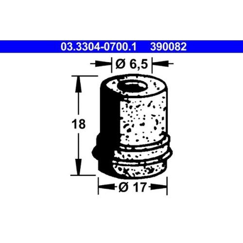 Stopfen, Bremsflüssigkeitsbehälter ATE 03.3304-0700.1 BMW HANOMAG MERCEDES-BENZ