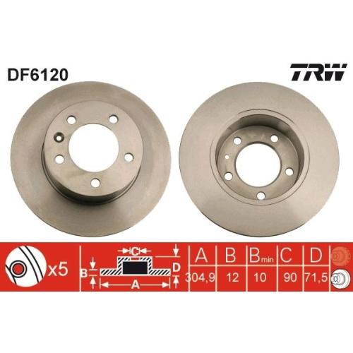 TRW Brake Disc DF6120