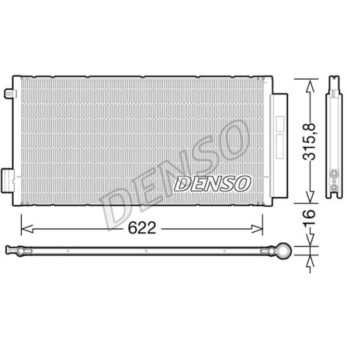 Kondensator, Klimaanlage DENSO DCN09044 FIAT