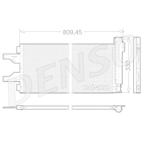 Kondensator, Klimaanlage DENSO DCN07050 FIAT PEUGEOT CITROËN/PEUGEOT