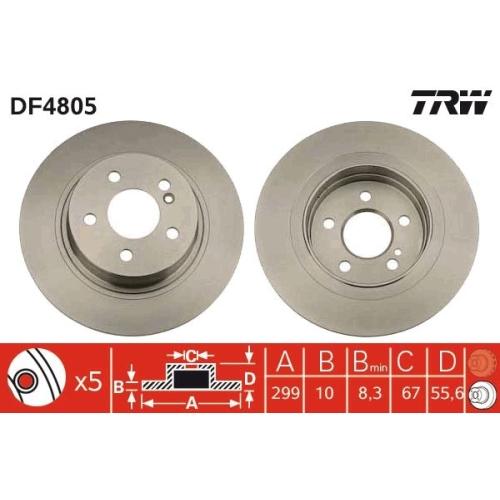 Brake Disc TRW DF4805 MERCEDES-BENZ