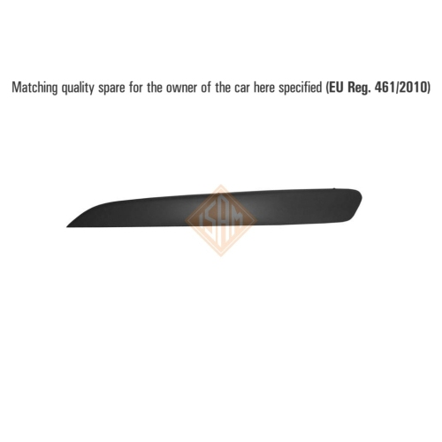 ISAM 0703712 trim / protective strip bumper front left for Opel Astra H.