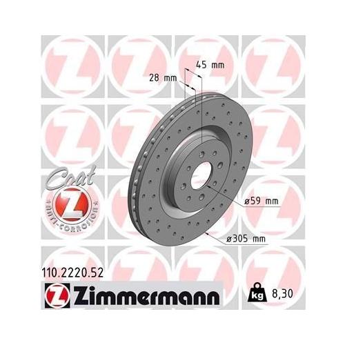 ZIMMERMANN Brake Disc 110.2220.52