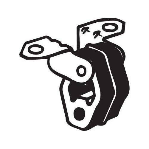 Gummistreifen, Abgasanlage BOSAL 255-084 AUDI SEAT SKODA VW