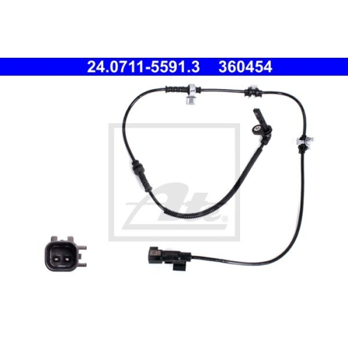 Sensor, Raddrehzahl ATE 24.0711-5591.3 OPEL VAUXHALL