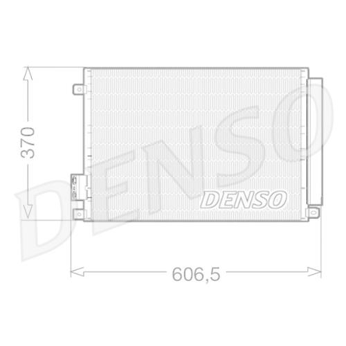 Kondensator, Klimaanlage DENSO DCN09045 FIAT FORD