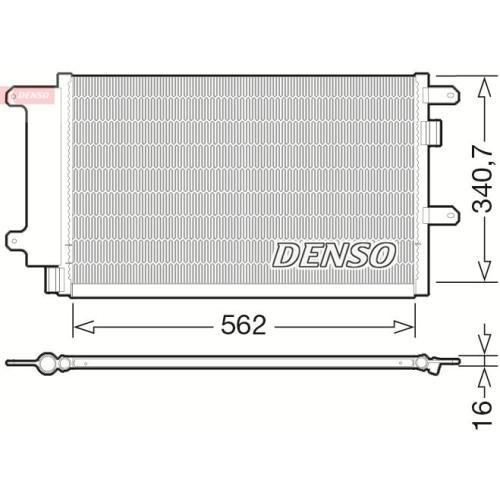 DENSO Kondensator, Klimaanlage DCN12003