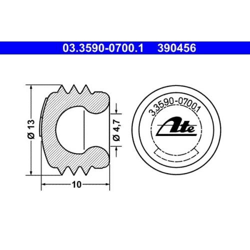 Sealing/Protective Cap ATE 03.3590-0700.1 ALFA ROMEO BMW BUESSING CHRYSLER DAF