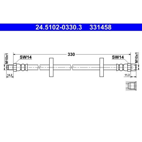 Brake Hose ATE 24.5102-0330.3 VAG