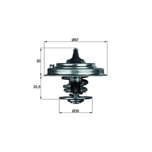 Thermostat, coolant MAHLE TX 30 92D AUDI VAG CUPRA