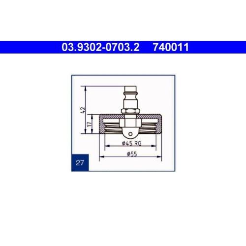 Entlüfterstutzen ATE 03.9302-0703.2