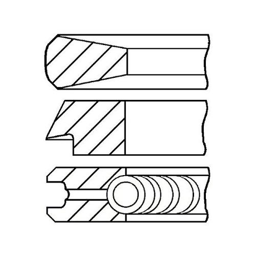 Piston Ring Kit GOETZE ENGINE 08-114400-40 BMW