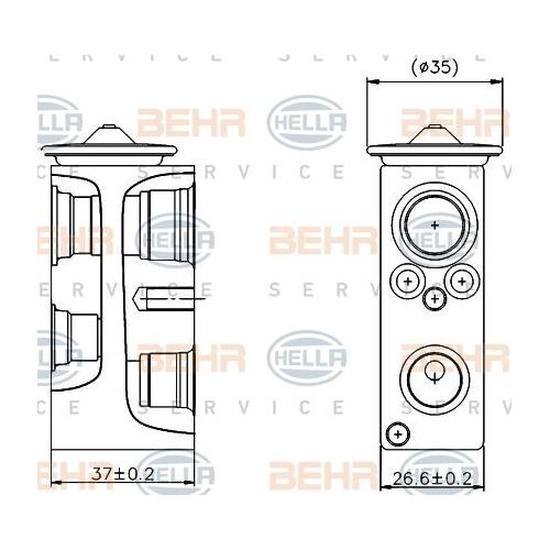 Expansionsventil, Klimaanlage HELLA 8UW 351 004-204 MERCEDES-BENZ