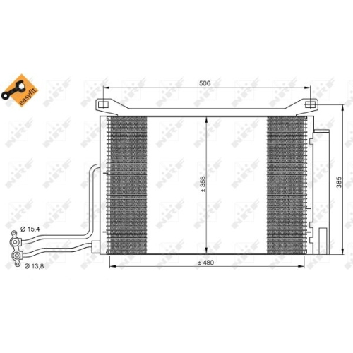 Kondensator, Klimaanlage NRF 35787 EASY FIT BMW MINI