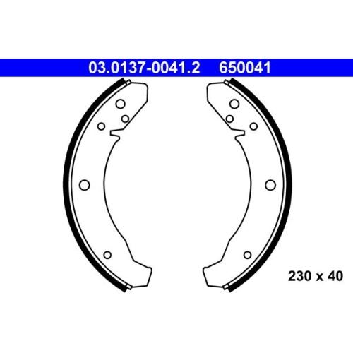 Bremsbackensatz ATE 03.0137-0041.2 PORSCHE VAG