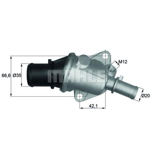 BEHR THERMOT-TRONIK Thermostat, coolant TI 105 88