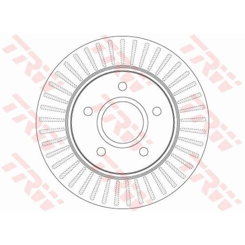 Brake Disc TRW DF6253S CHRYSLER DODGE FIAT LANCIA