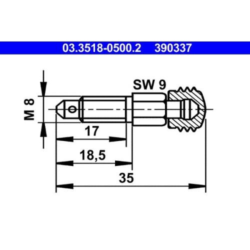 Entlüfterschraube/-ventil ATE 03.3518-0500.2 BUESSING DAF FORD HANOMAG HENSCHEL