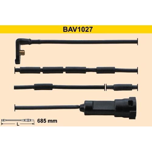 Warning Contact, brake pad wear BARUM BAV1027 OPEL VAUXHALL