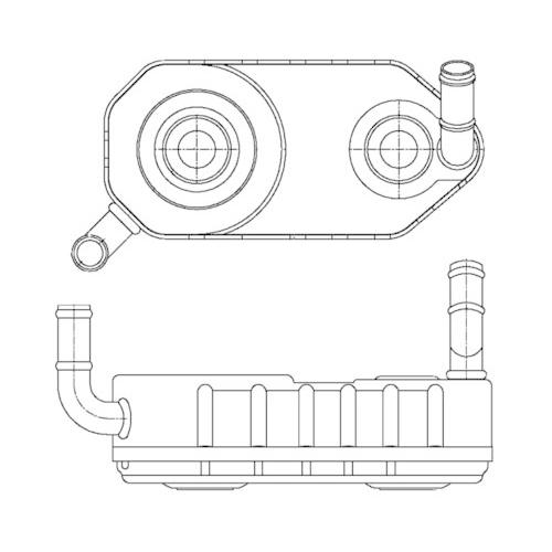 Oil Cooler, automatic transmission MAHLE CLC 177 000S AUDI VAG CUPRA