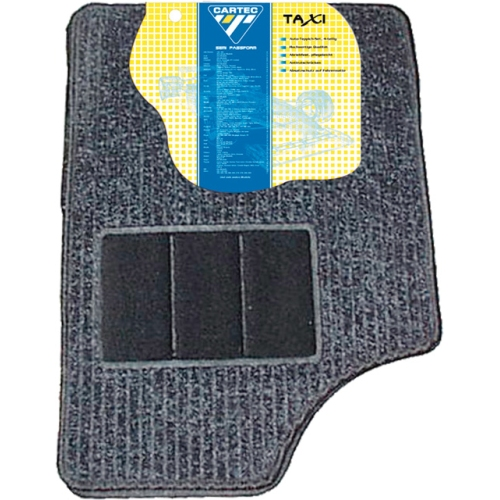 SCHOENEK 9.60202.4 Universal car carpet set taxi, 4 pieces, gray / black