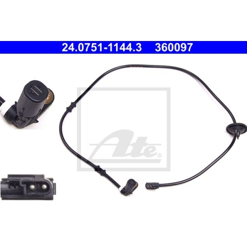 Sensor, Raddrehzahl ATE 24.0751-1144.3 MERCEDES-BENZ