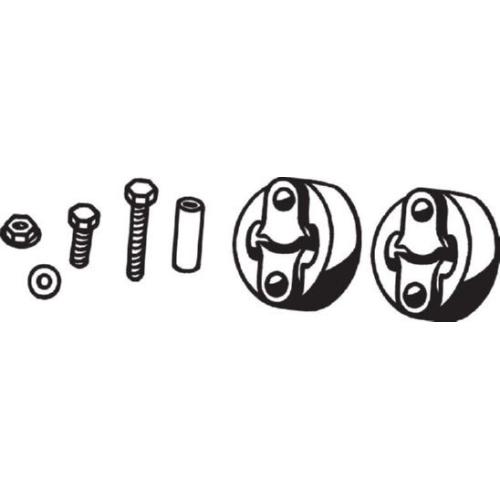 Klemmstück, Abgasanlage BOSAL 254-021 TOYOTA
