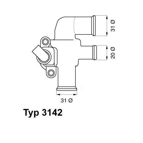 WAHLER Thermostat 3142.90D