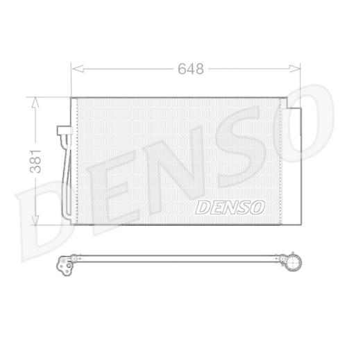 Kondensator, Klimaanlage DENSO DCN05017 BMW MINI
