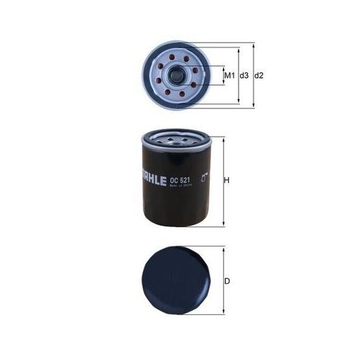 Ölfilter MAHLE OC 521 HYUNDAI KIA