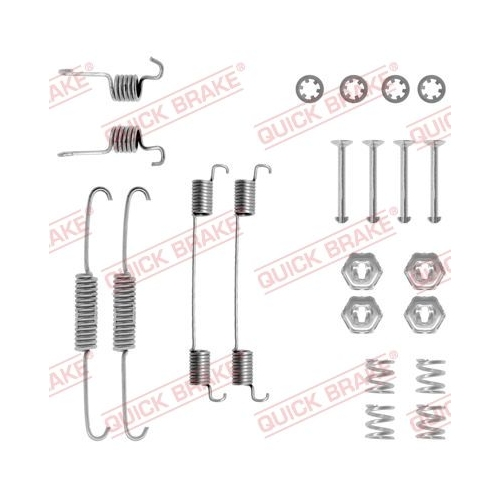 Accessory Kit, brake shoes QUICK BRAKE 105-0674
