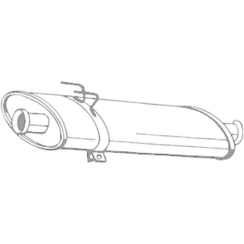 Middle Silencer BOSAL 200-269 OPEL RENAULT VAUXHALL