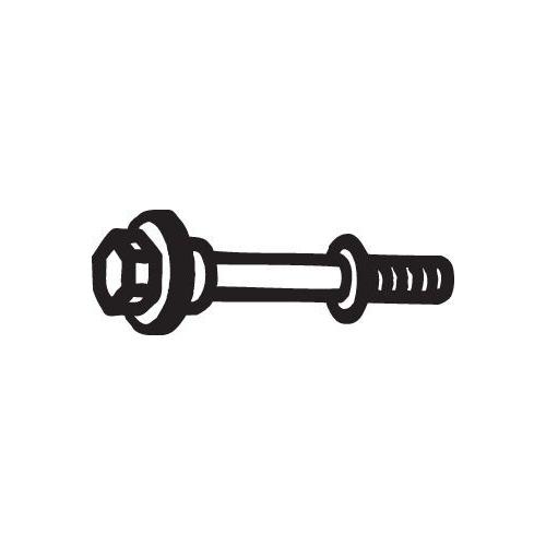 BOSAL Bolt, exhaust system 258-944