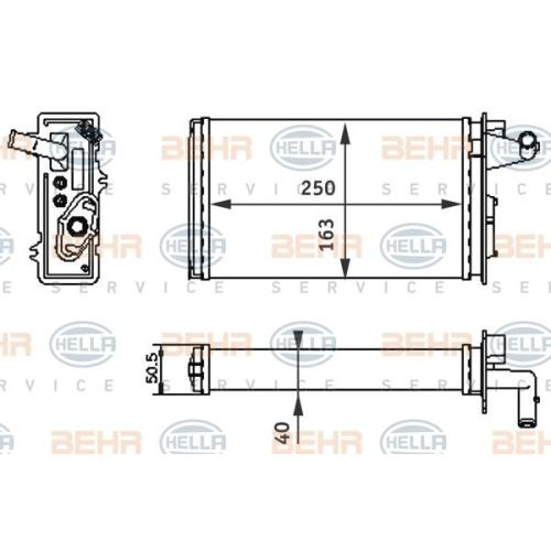 Wärmetauscher, Innenraumheizung HELLA 8FH 351 313-041 ALFA ROMEO FIAT LANCIA