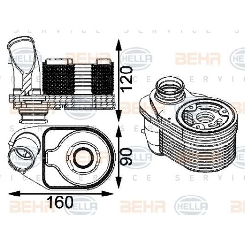 Ölkühler, Motoröl HELLA 8MO 376 797-201 FIAT