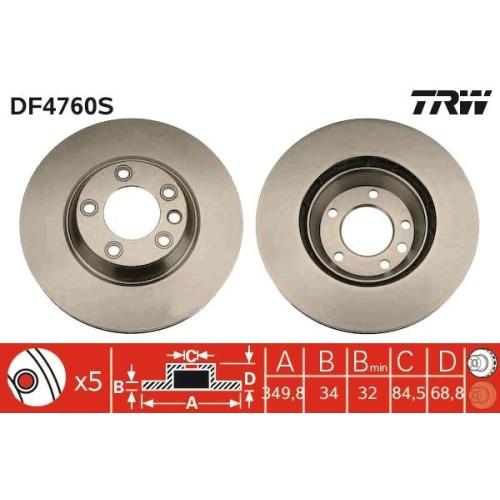 TRW Bremsscheibe DF4760S