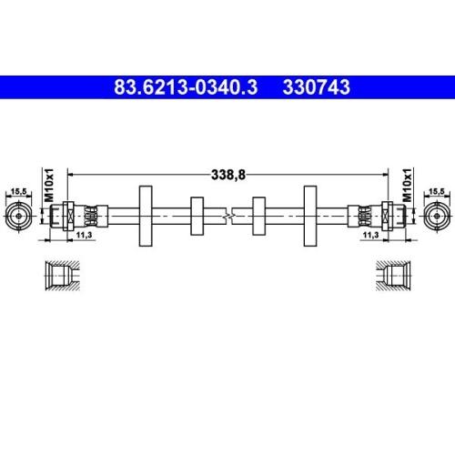 Bremsschlauch ATE 83.6213-0340.3