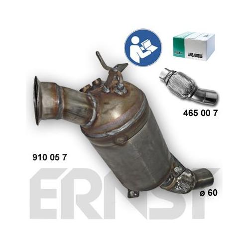 Soot/Particulate Filter, exhaust system ERNST 910057 Set BMW