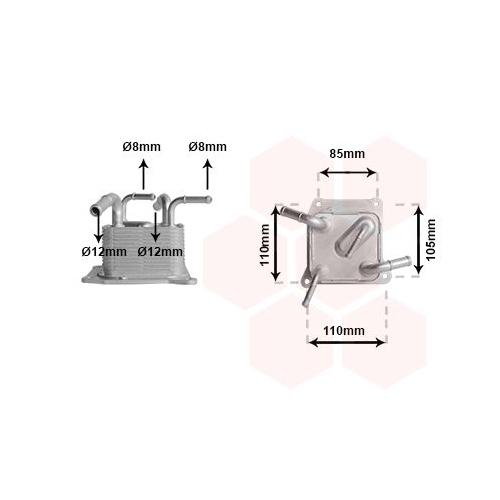 Ölkühler, Automatikgetriebe VAN WEZEL 13013705 NISSAN