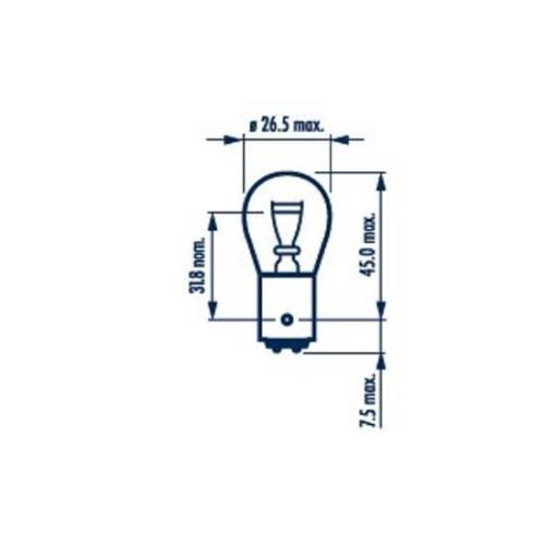 Glühlampe, Bremsleuchte NARVA 17882