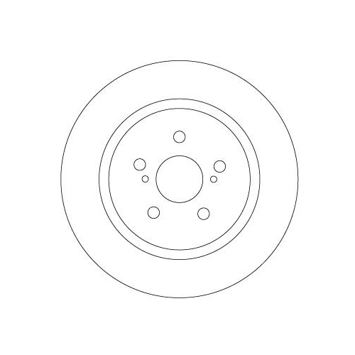 Brake Disc TRW DF6920 TOYOTA LEXUS