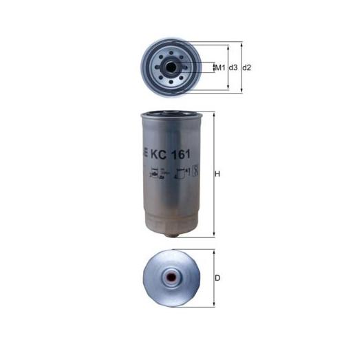 Kraftstofffilter MAHLE KC 161 RENAULT TRUCKS
