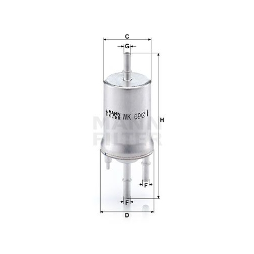 Fuel filter MANN-FILTER WK 69/2 VAG