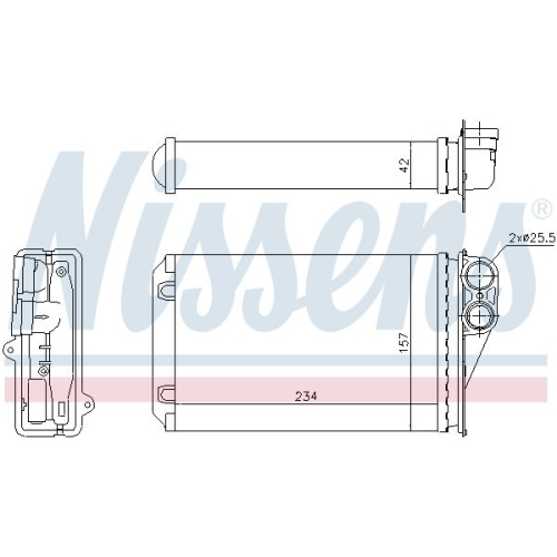 Heat Exchanger, interior heating NISSENS 72946 PEUGEOT