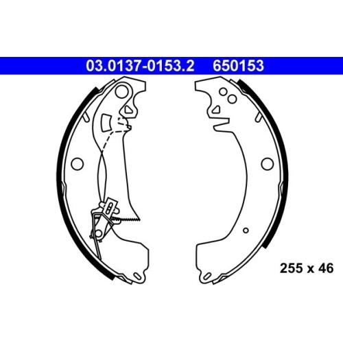 Bremsbackensatz ATE 03.0137-0153.2 OPEL RENAULT VAUXHALL